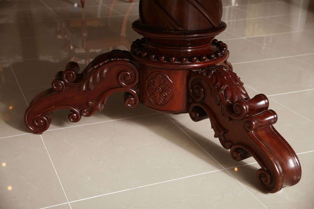 William IV Mahogany Center/Dining Table In Excellent Condition For Sale In Miami, FL