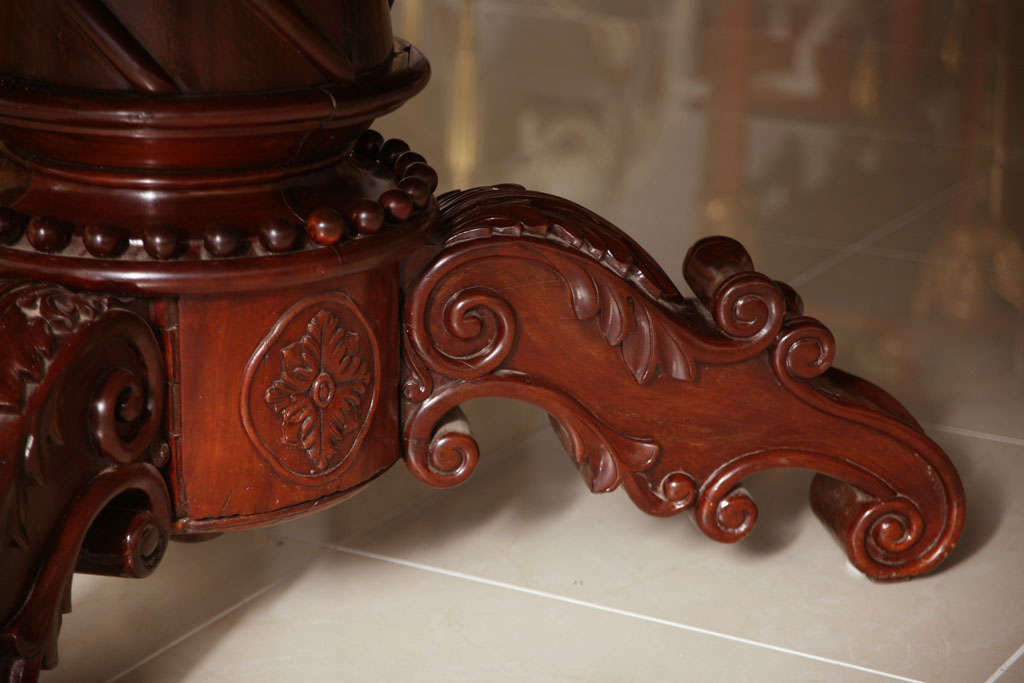 19th Century William IV Mahogany Center/Dining Table For Sale