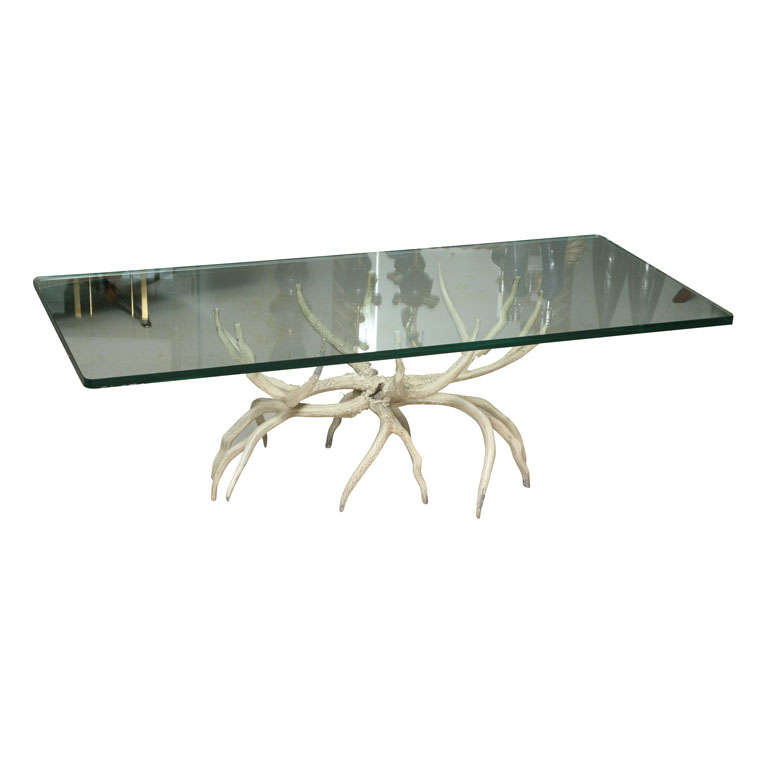 Arthur Court Aluminum Antler Table At 1stdibs