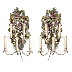 Antique Tole Sconces
