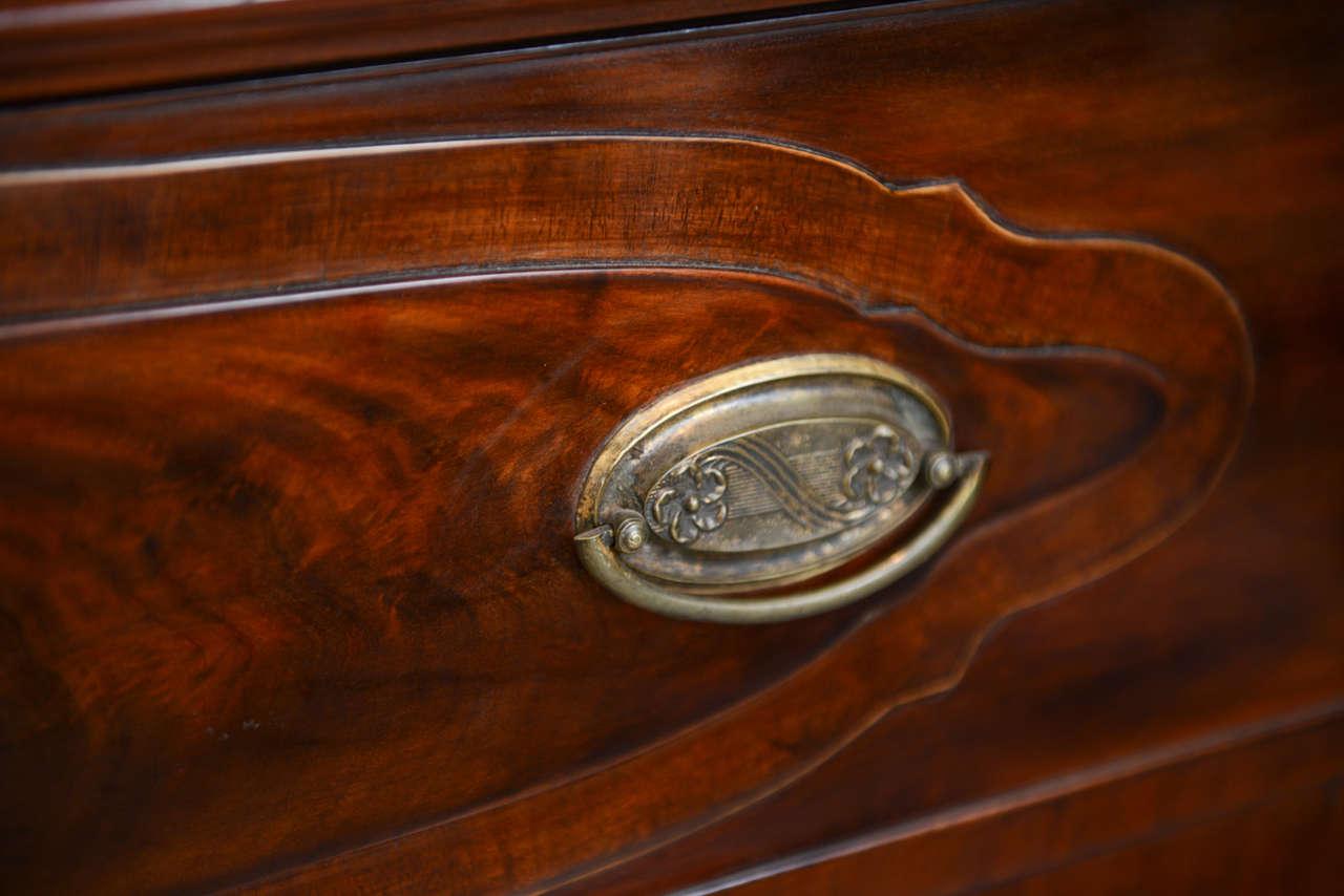 Glass Fine Baltic Neoclassic Mahogany Breakfront, Late 18th Century For Sale