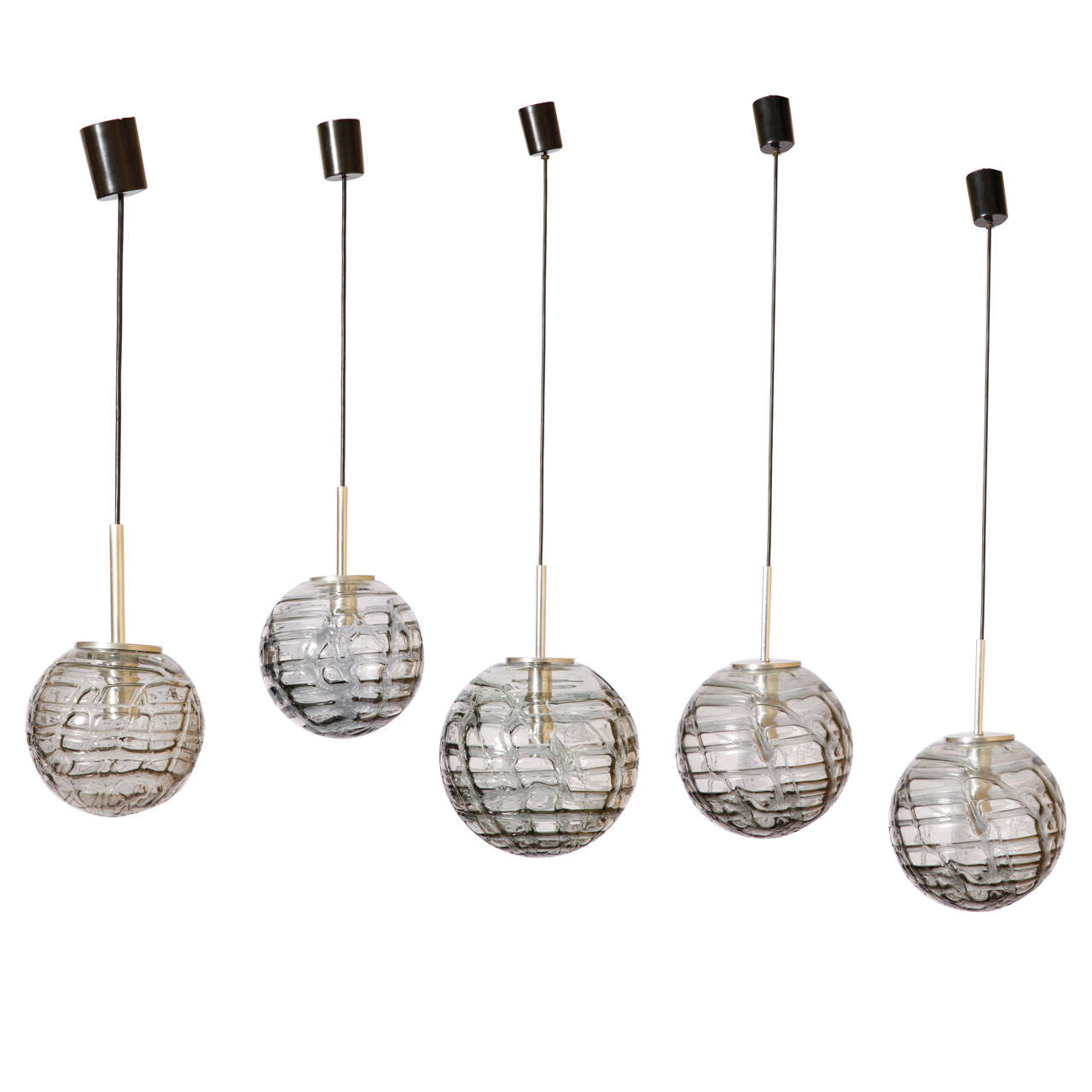 Doria Bubbled Glass Textured Pendant,Germany,1960's