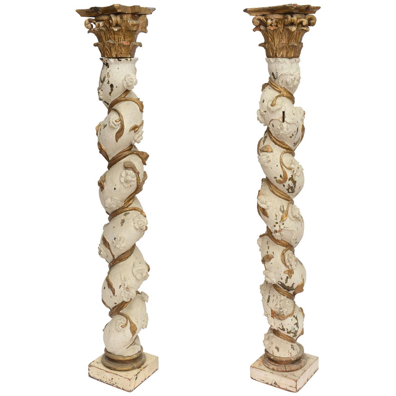 Twist Wood Columns : X g