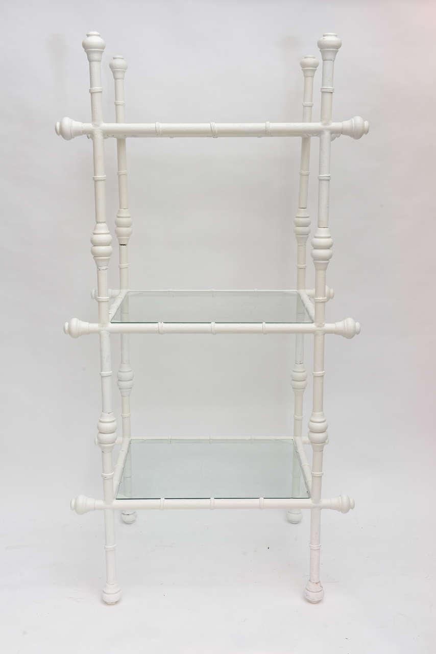 Pair Faux Metal Bamboo Shelves At 1stdibs