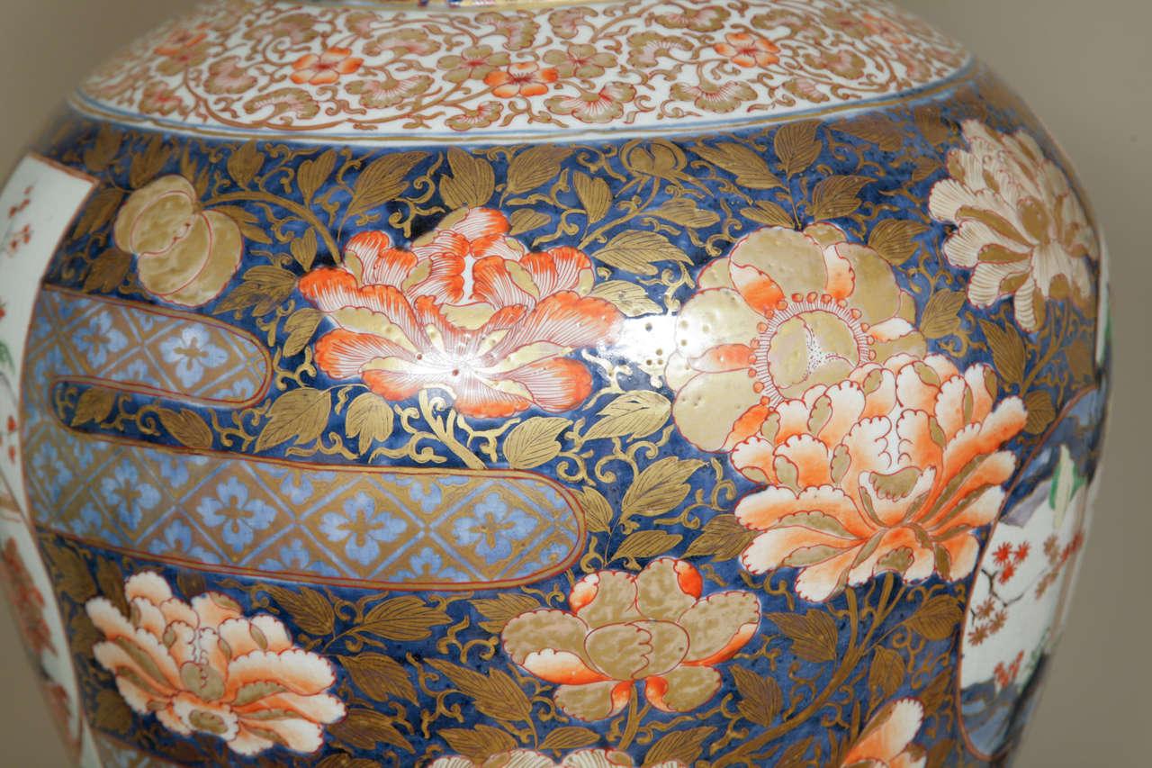 Large Japanese Late 17th Early 18th Century Imari Ovoid