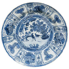 Large Chinese Blue and White Kraak Charger, Wanli