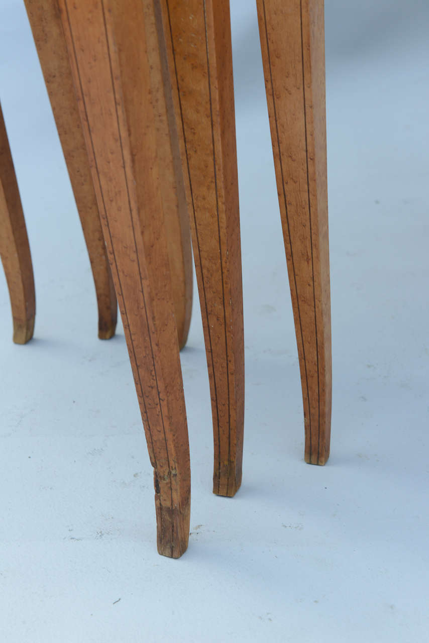 Set of Three Neoclassical Nesting Tables For Sale 4