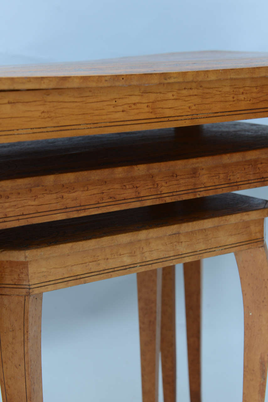 Set of Three Neoclassical Nesting Tables For Sale 5