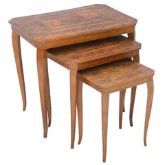 Set of Three Neoclassical Nesting Tables