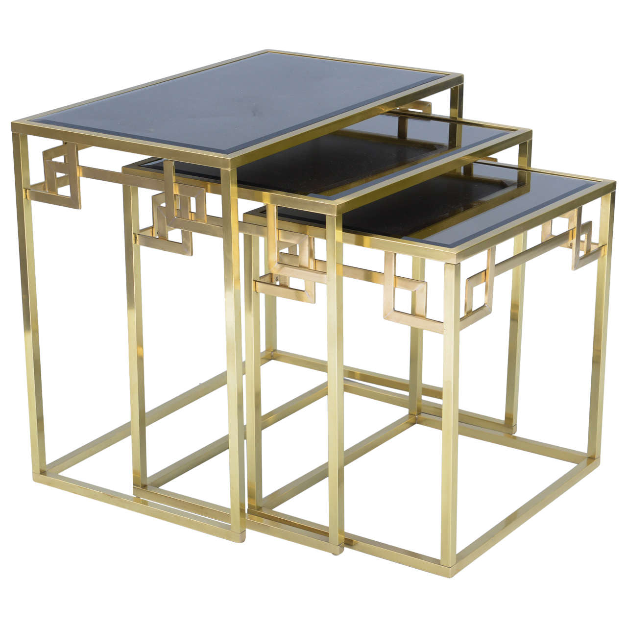 Set of Three Classical Greek Key Nesting Tables