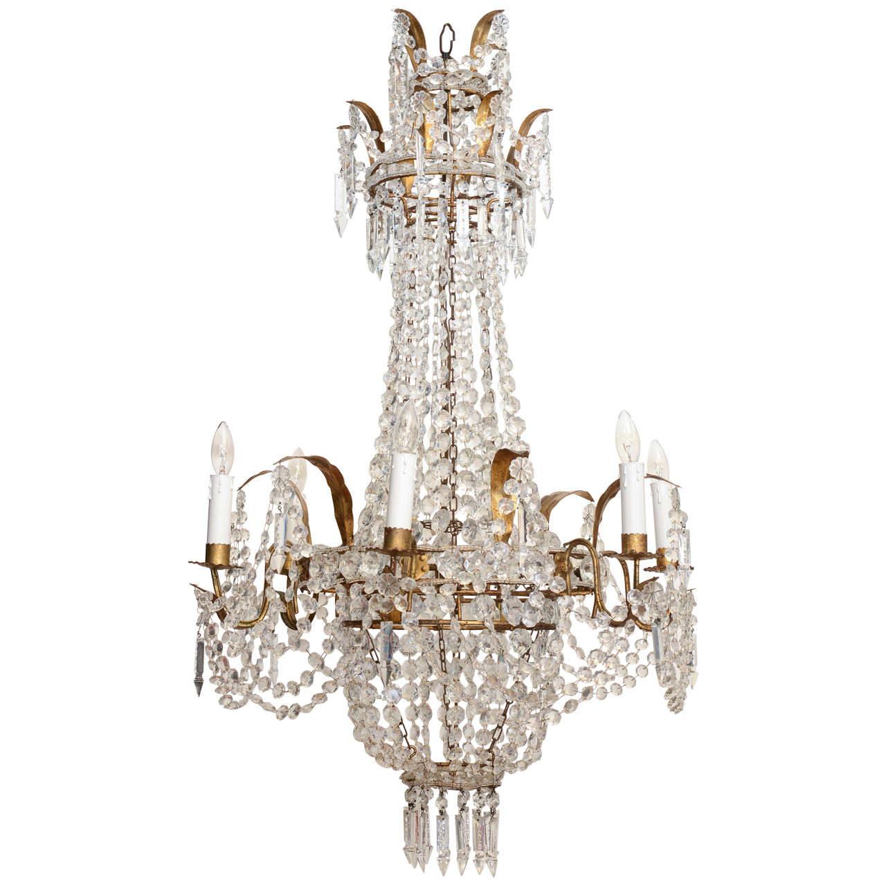 Empire Form Crystal Chandelier