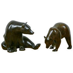 Sitting Bear and Grizzly, 2010 and 2013, by Jonathan Knight