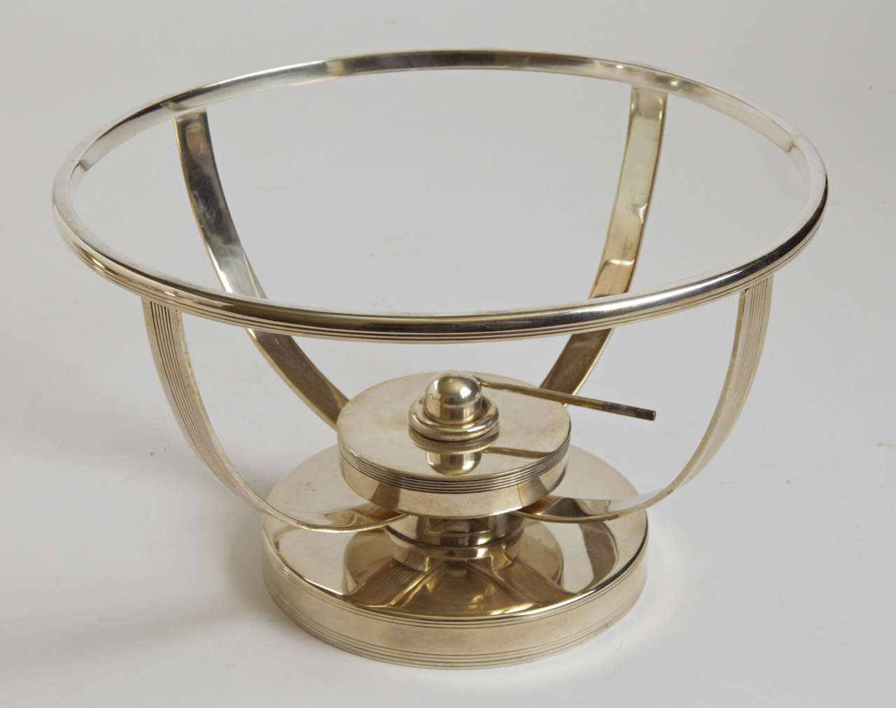 Machine Age Art Deco Chafing Set, Lurelle Guild for International Silver  Rare For Sale 2