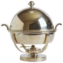 Machine Age Art Deco Chafing Set, Lurelle Guild for International Silver  Rare