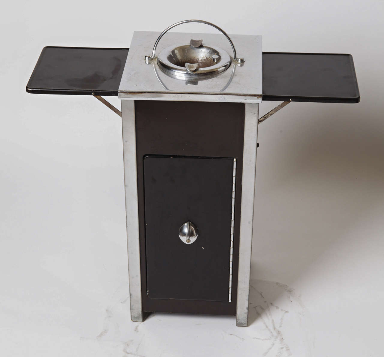 American Machine Age Art Deco Smokestand Cocktail Cabinet Smoke Stand Bar  For Sale