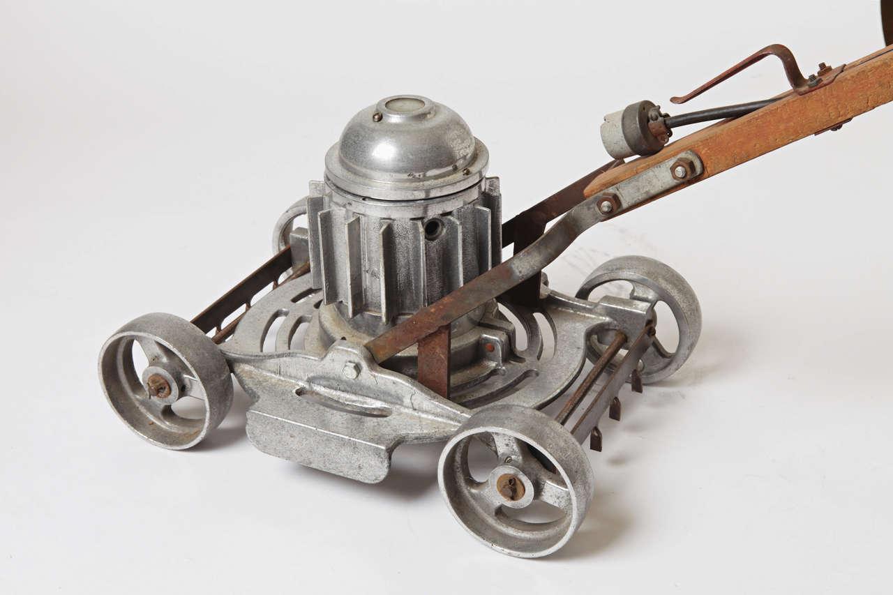 Machine Age, Art Deco, Industrial Design, Cast Aluminum Lawn Mower For Sale 1
