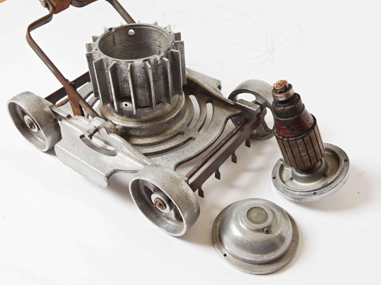 Machine Age, Art Deco, Industrial Design, Cast Aluminum Lawn Mower For Sale 4