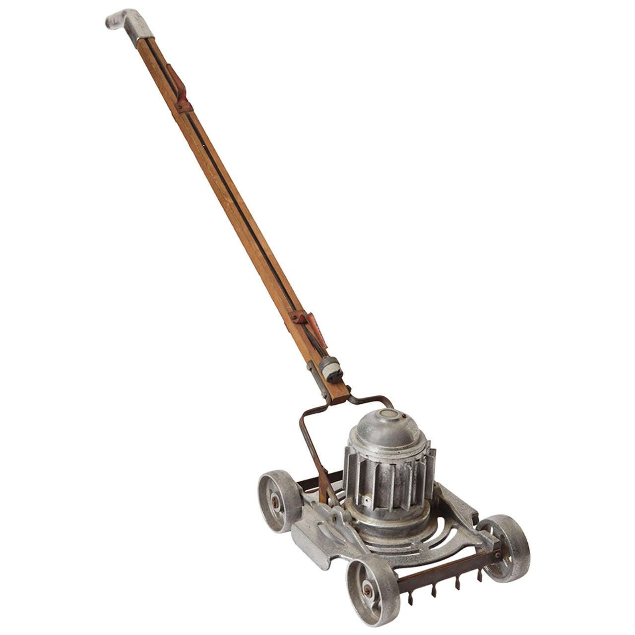 Machine Age, Art Deco, Industrial Design, Cast Aluminum Lawn Mower For Sale