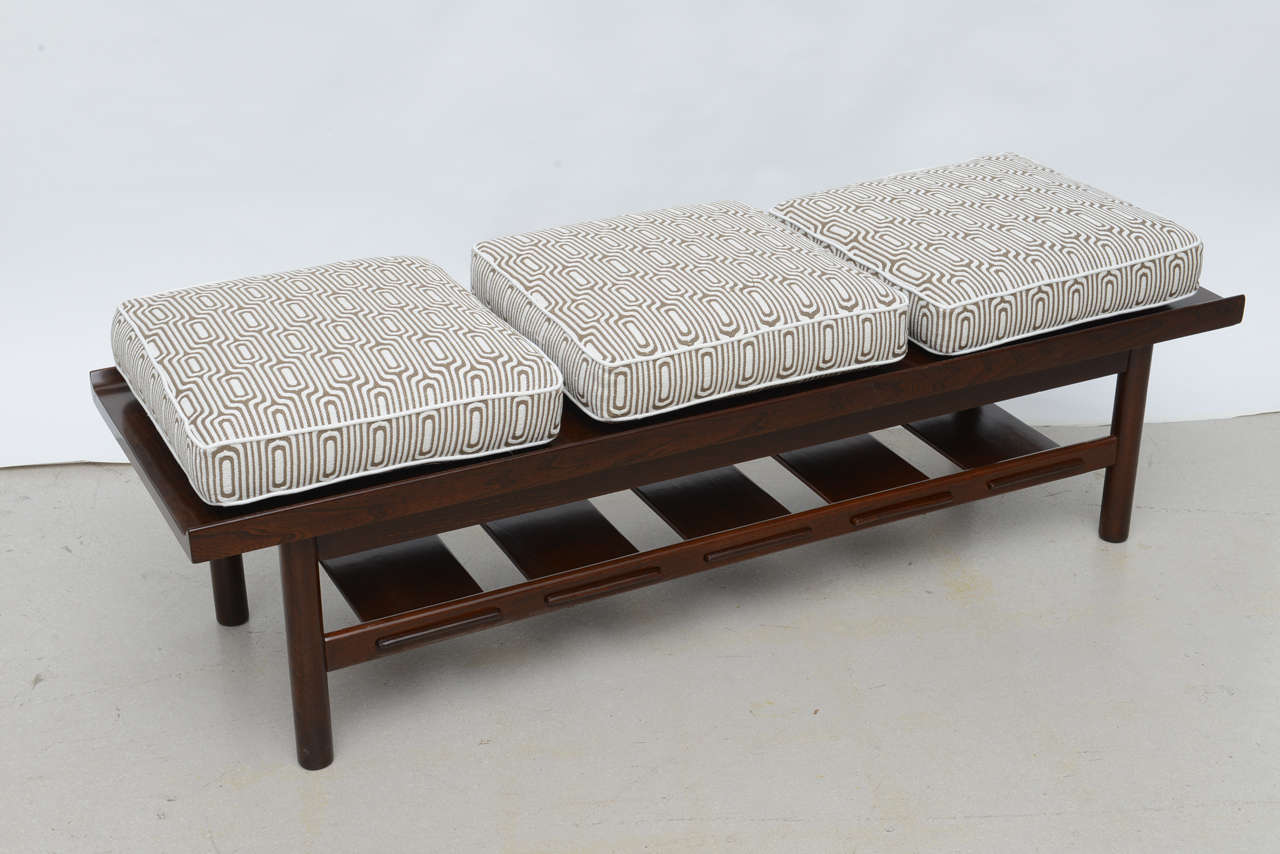 midcentury modern walnut bench or table at stdibs - midcentury modern walnut bench or table