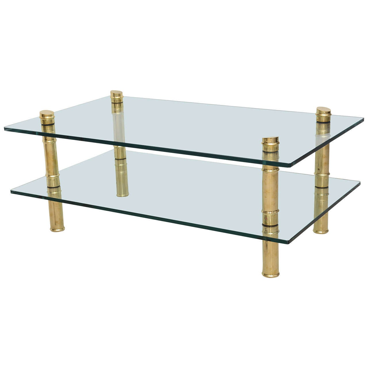 Brass Faux Bamboo Coffee Table For Sale At 1stdibs