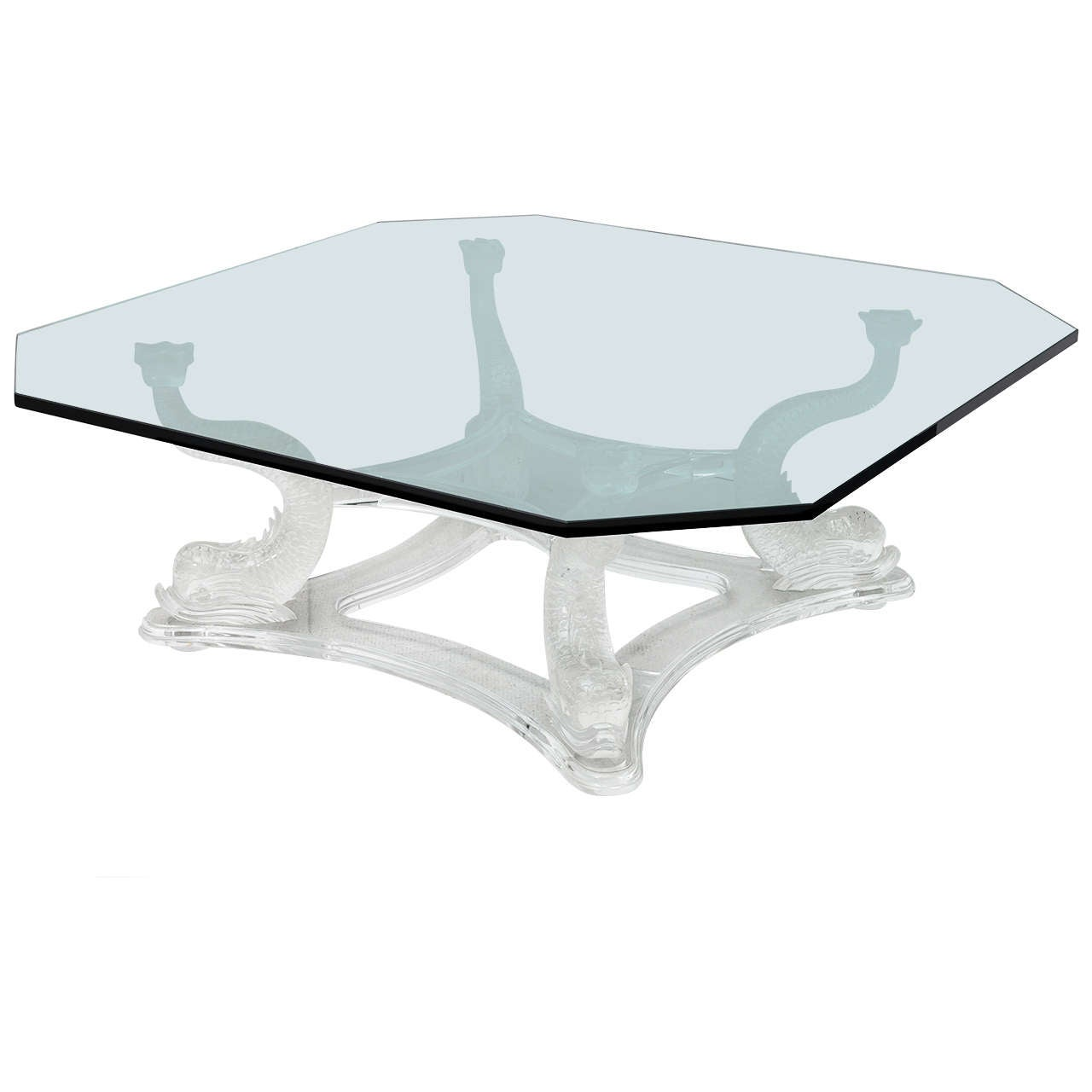 Vintage Lucite Dolphin Table At 1stdibs