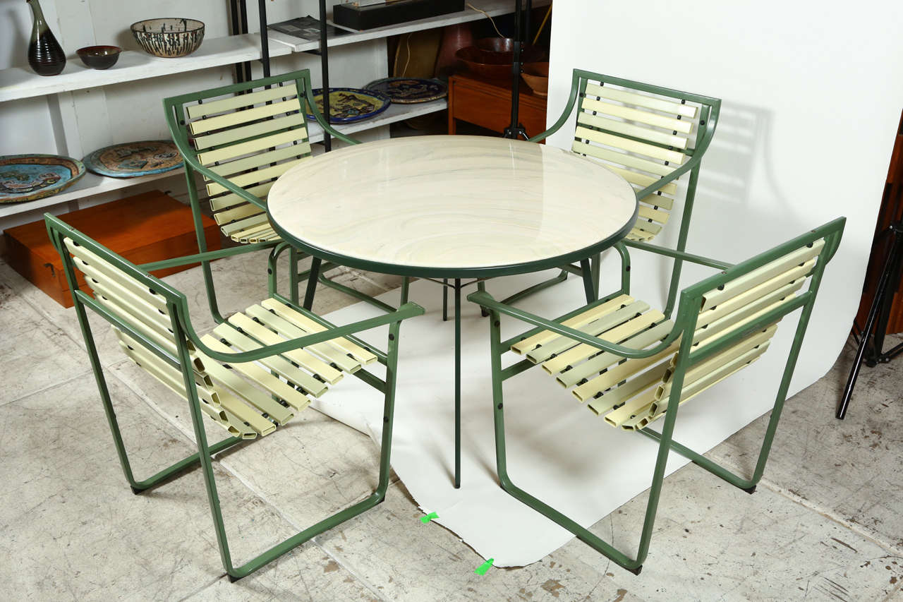 "Samsonite ""Sunrest"" Outdoor Dining Set at 1stdibs"