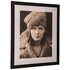 Framed Archival Pigment Photograph of Greta Garbo:  George Hurrell, 1936