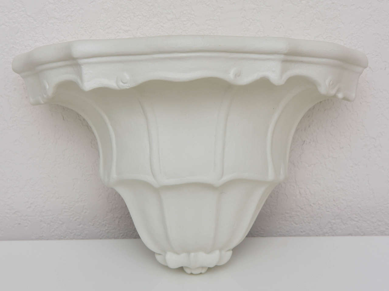 Pair Of White Plaster Wall-Shelves In The Style Of Serge
