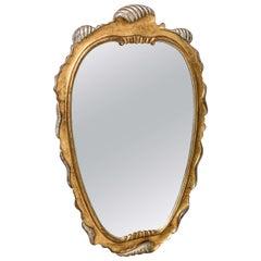Hollywood Regency Style Gilt-Wood Mirror in Manner of Dorothy Thorpe