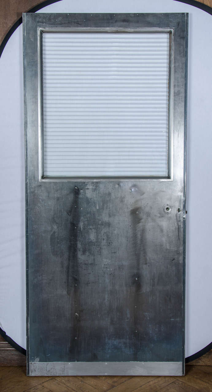 Vintage Industrial Metal Doors : Vintage industrial glazed steel door for sale at stdibs