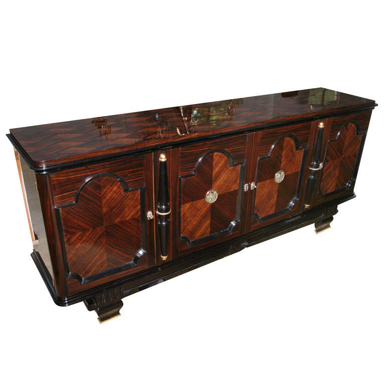 French art deco designer macassar ebony buffet raphael for French furniture designers modern