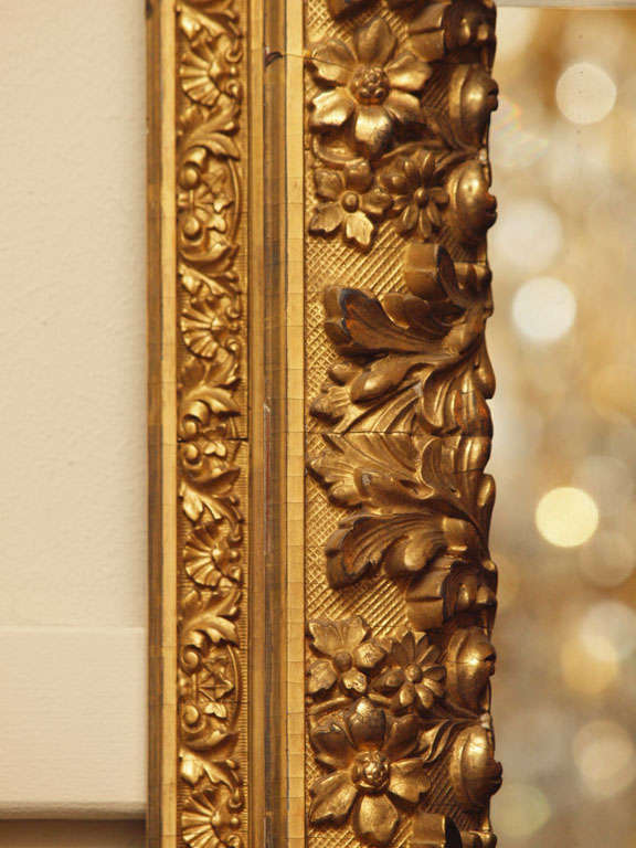 Antique French Gold Leaf Mirror At 1stdibs