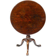 Late 18th Century Mahogany Tilt Top Table