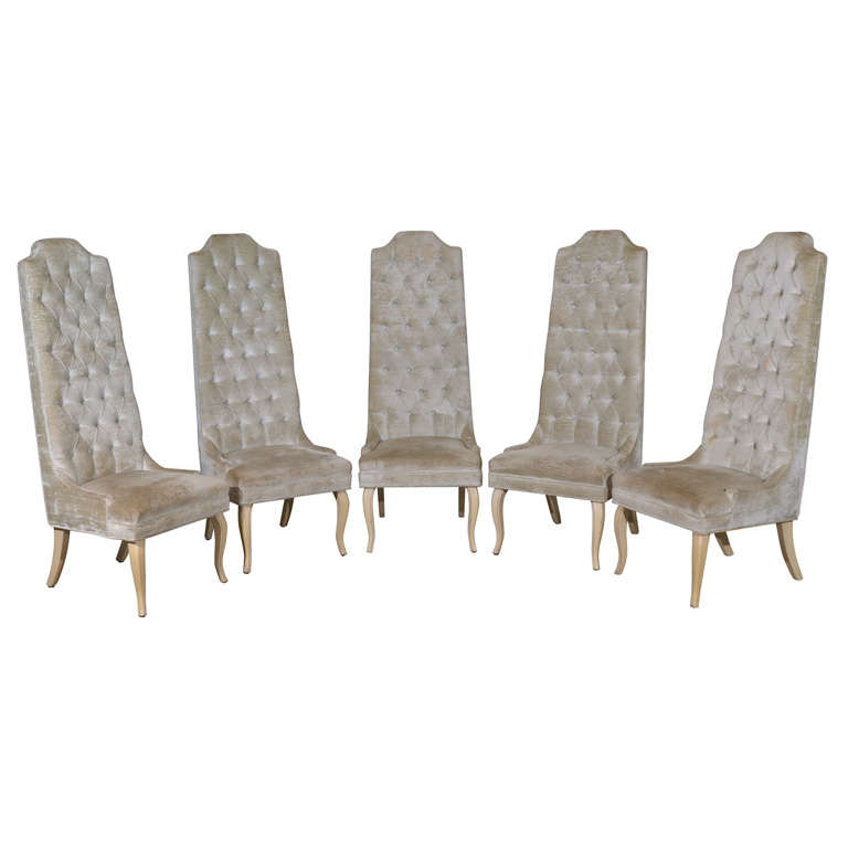 set five tall back tufted dining chairs chair grey world market thresholdtm brookline of 2