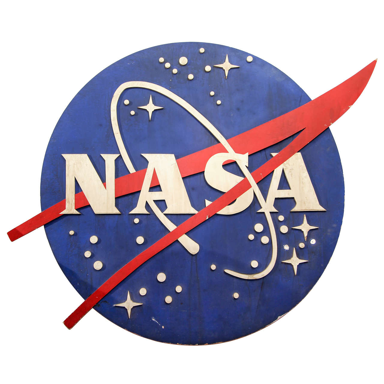 Vintage Handmade Nasa Sign At 1stdibs
