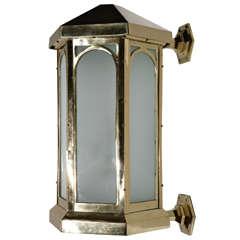 Cast Brass Exterior Sconce