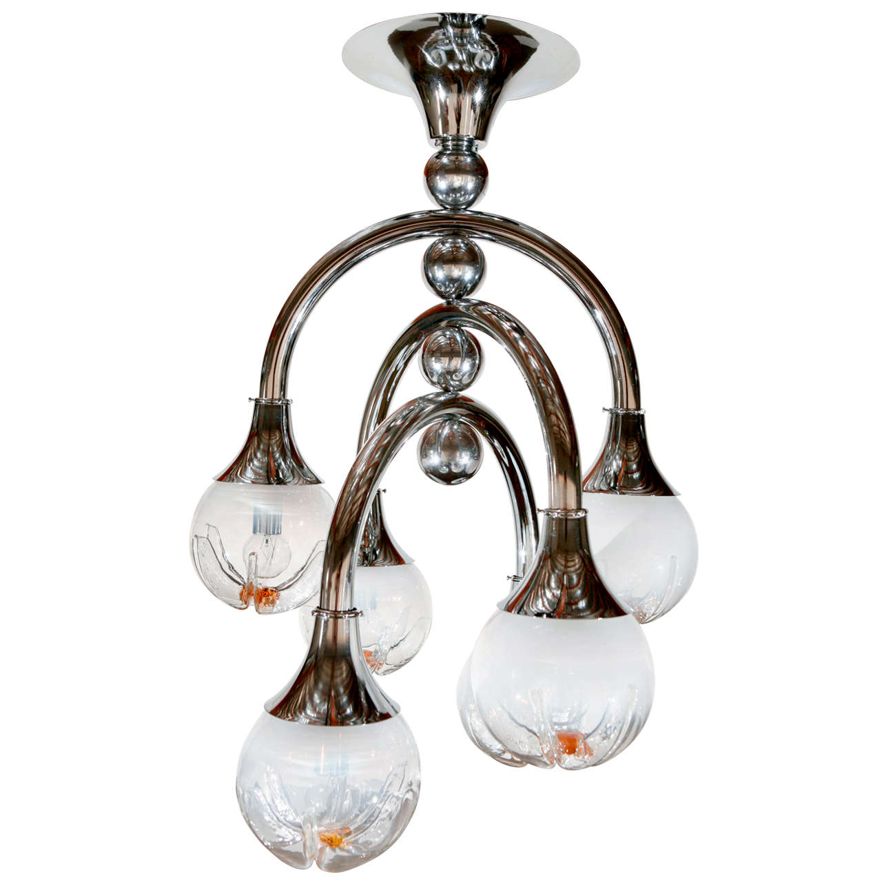 Mazzega Space Age Chandelier For Sale