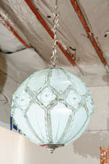 Italian Globe Chandelier Fontana Arte image 2