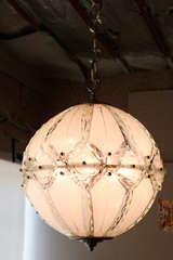 Italian Globe Chandelier Fontana Arte image 3