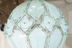 Italian Globe Chandelier Fontana Arte image 6