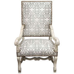 High Back Regence Style Armchair