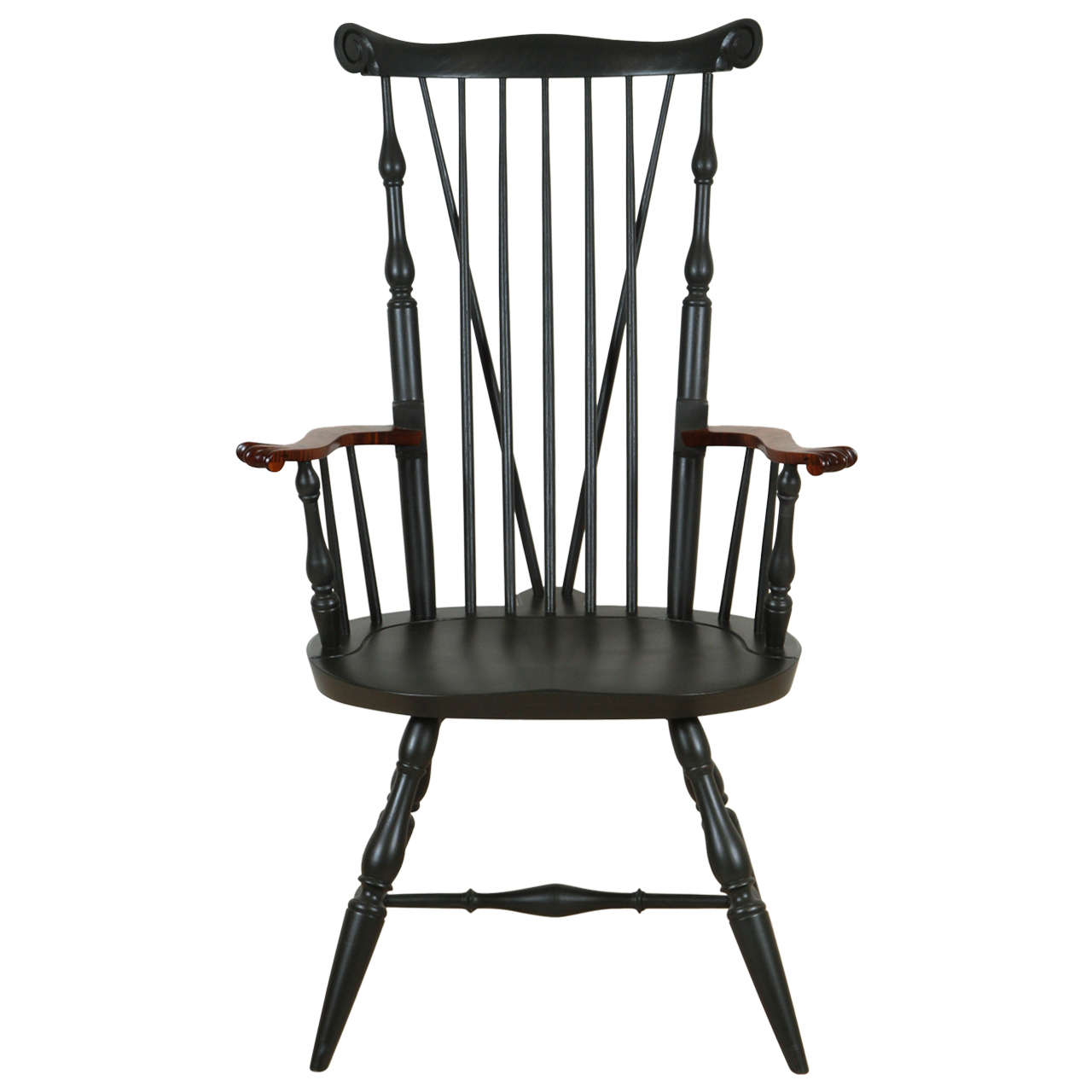 Nantucket Armchair with Tiger Maple Arms by O&G Studio