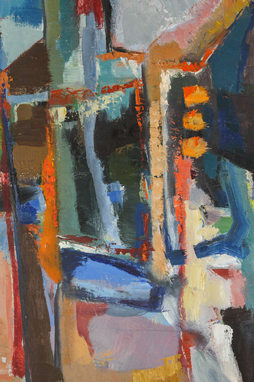Mid-20th Century Vintage Abstract Painting by Hannah Cohen
