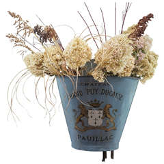 French Painted Grape Gathering Basket