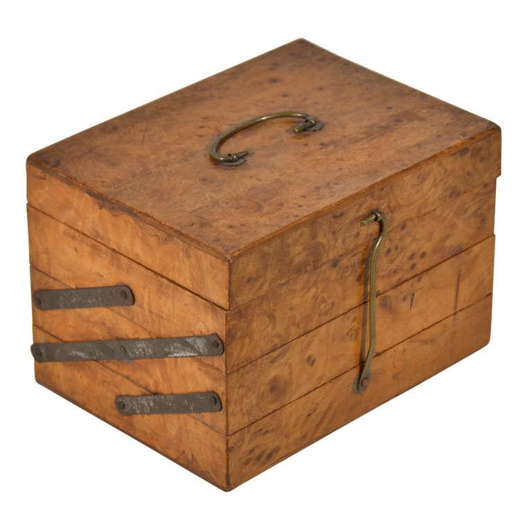 Burl Wood Expandable Box