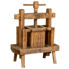 Late 19th Century French Wooden Wine Press