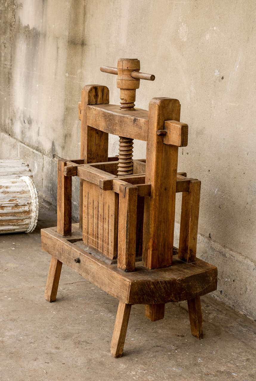 Late 19th century french wooden wine press for sale at 1stdibs for 19th century french cuisine