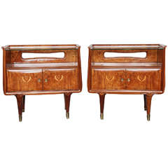 Pair of Dassi et Figli Night Tables Made in Milan
