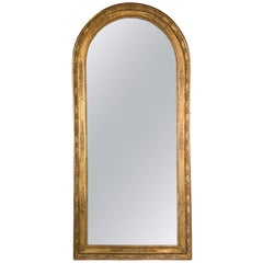 French Empire Giltwood Mirror, Large Scale