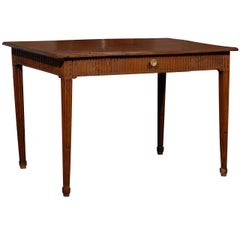 Louis XVI Period French Late 18th Century Side Table with Fluted Tapering Legs